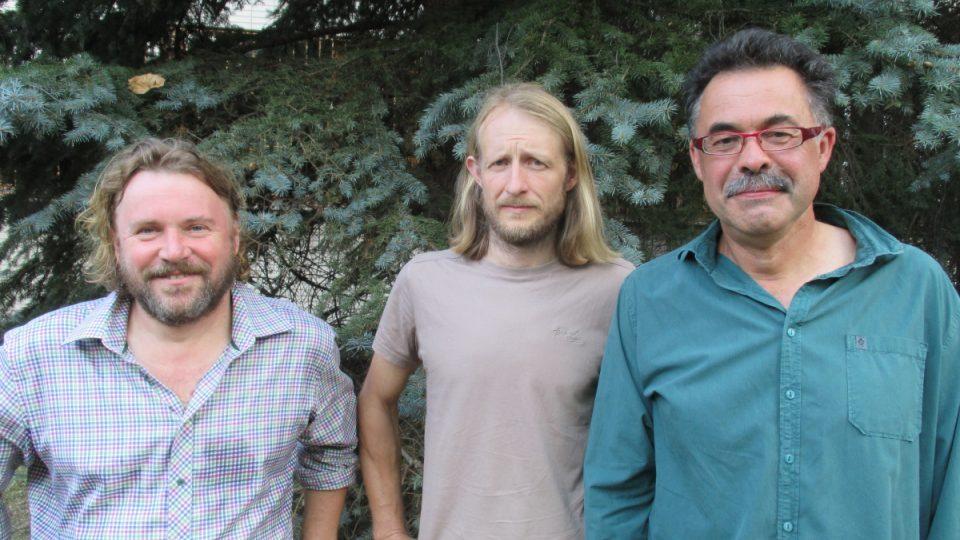 Zleva Pavel Hubený (NP a CHKO Šumava), Tomáš Peckert (CHKO Český les) a Jindřich Horáček (CHKO Slavkovský les)