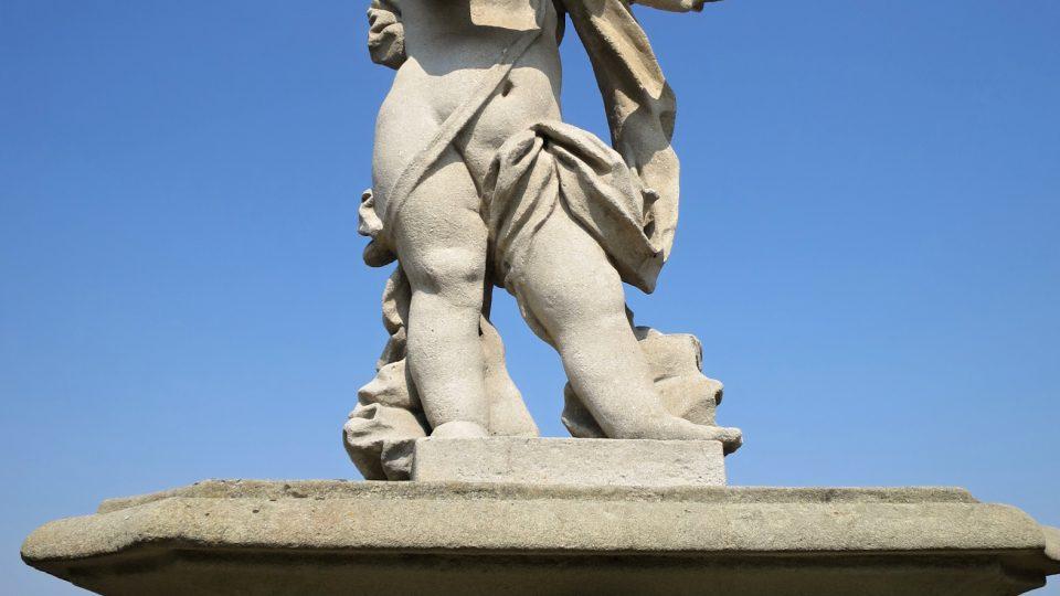 Socha na barokním hřbitově Střílky