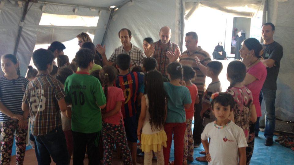 Uprchlický tábor v Iráku