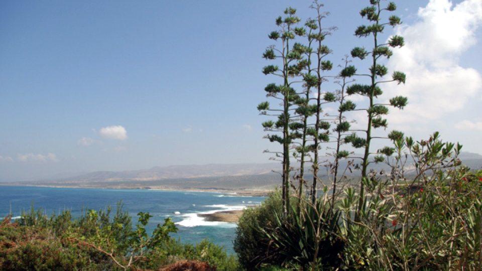 Výhled na pobřeží Kypru