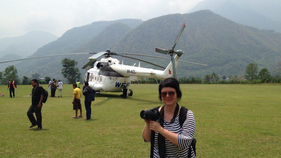 Tereza Hronová v Nepálu 2015