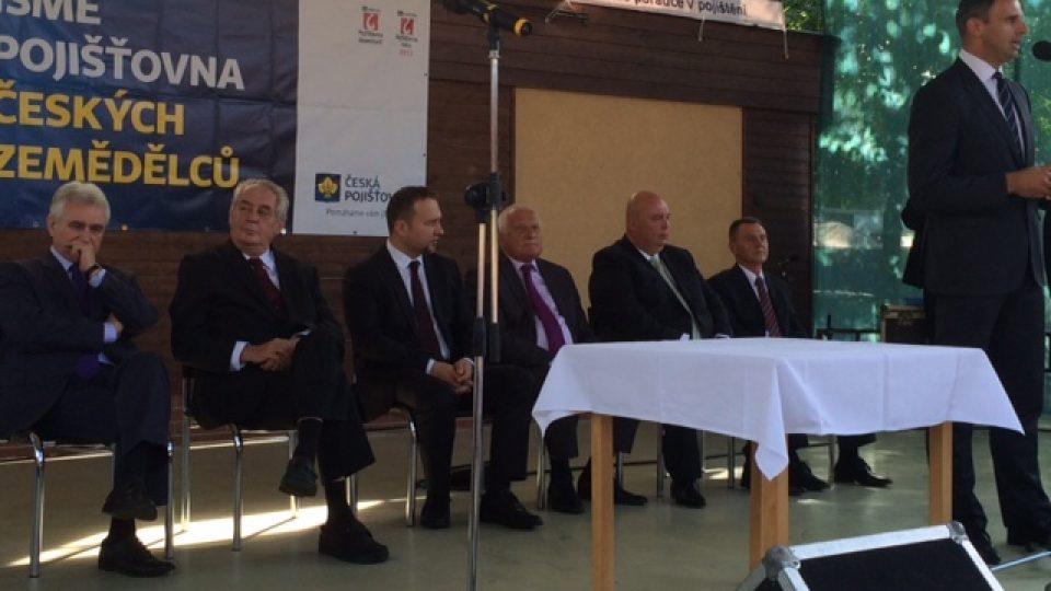 Výstavu Země Živitelka v Českých Budějovicích zahájil prezident Miloš Zeman