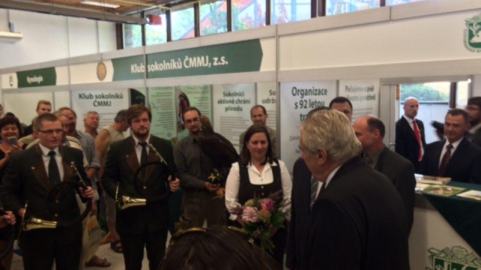 Výstavu Země Živitelka zahájil prezident Miloš Zeman