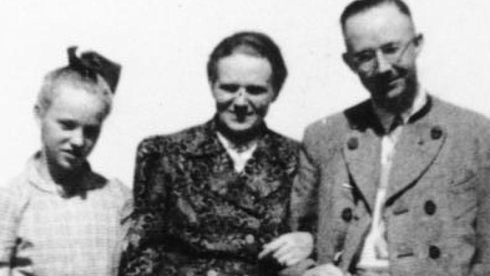 Heinrich Himmler se ženou Margaret a dcerou Gudrun