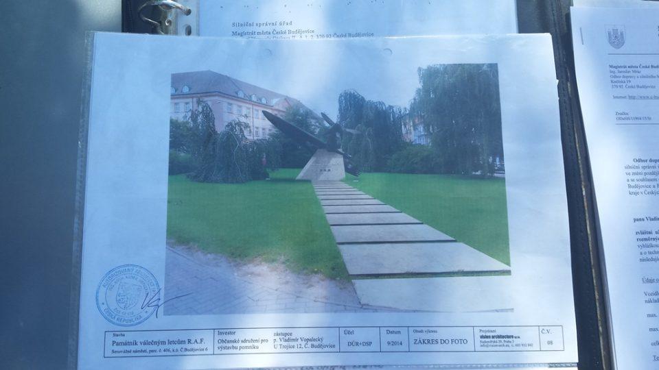 Návrh výsledné podoby pomníku