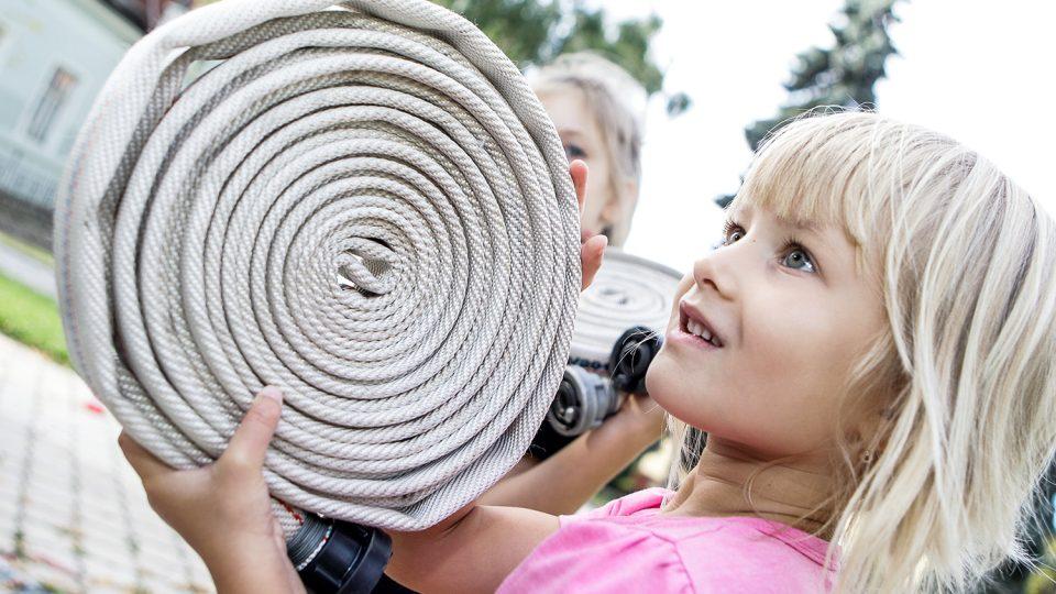 Budoucí dobrovolná hasička z Moravan