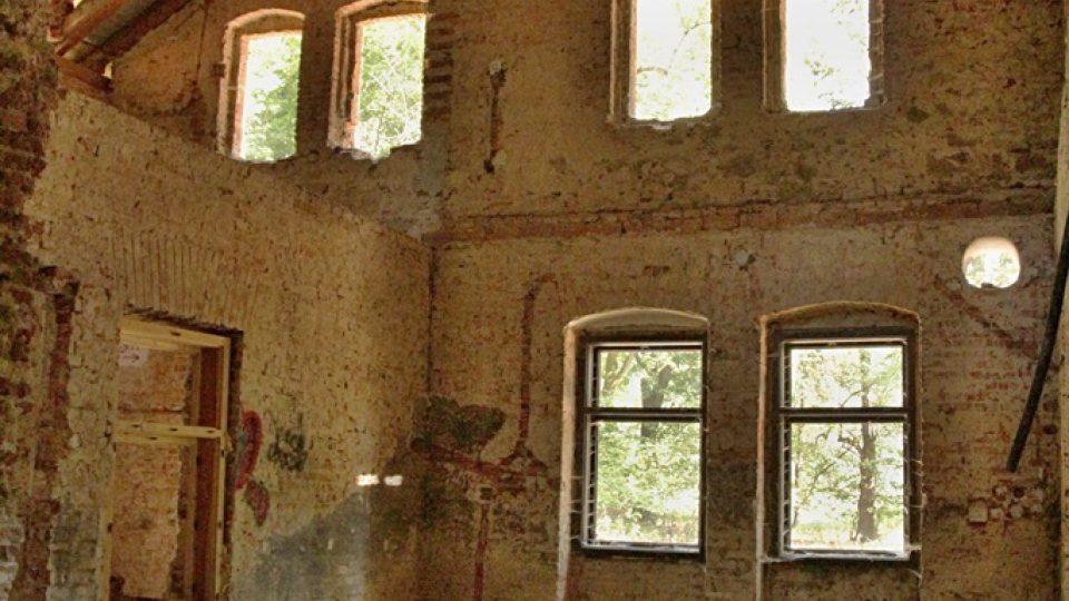 Interiér restaurace Rudolfov u Jindřichova Hradce