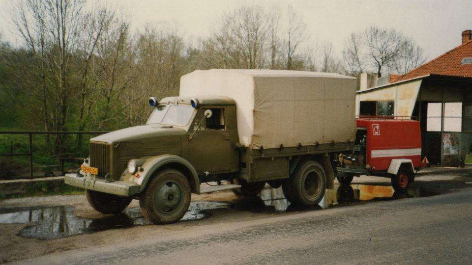 Zásahový vůz GAZ, který sloužil v Radimi do roku 1997