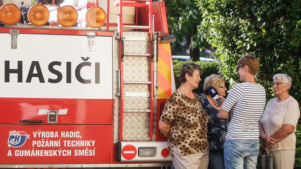 Natáčíme s dobrovolnými hasiči z Čeperky