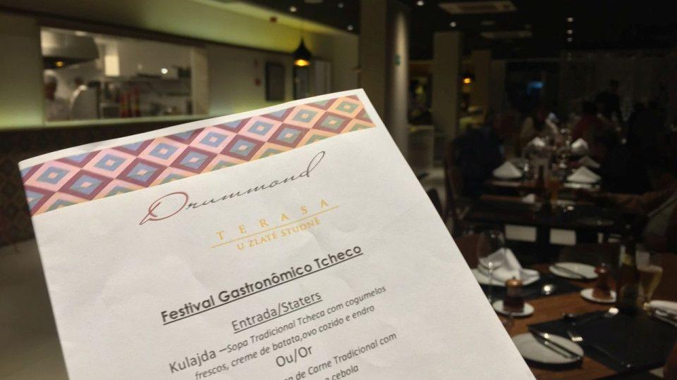 Festival české gastronomie v restauraci Drummond v brazilském Belo Horizonte nabízel místo předkrmu typické české polévky