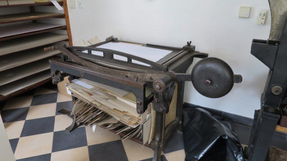 Původní stroje v dílně ze 30. let 20. století