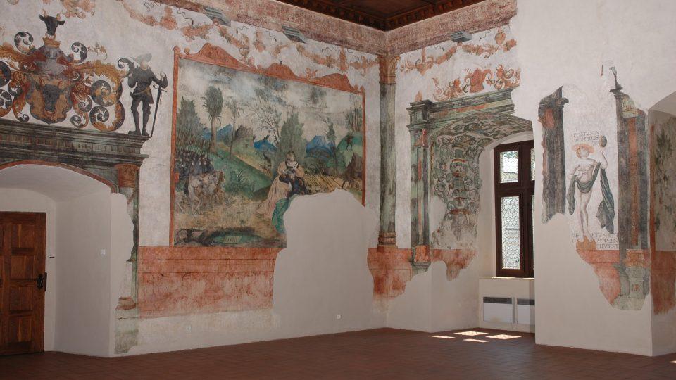 Vojtěch z Pernštejna v Rytířském sále pardubického zámku