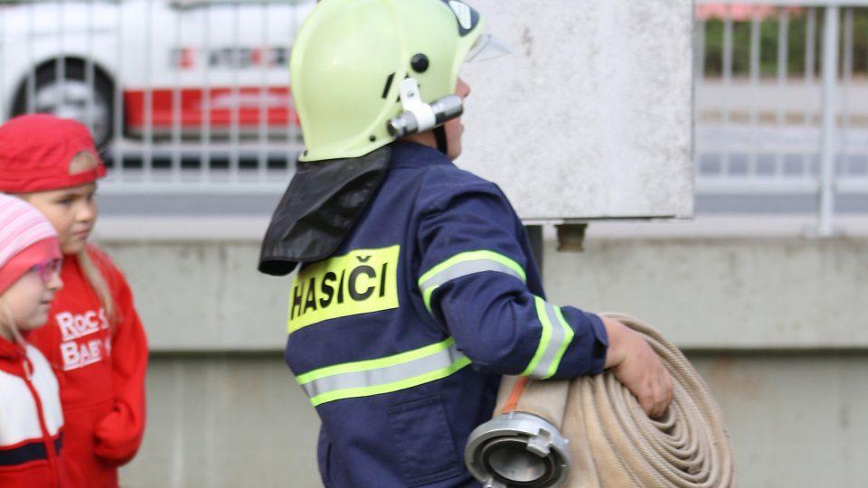Příprava na hasičské závody