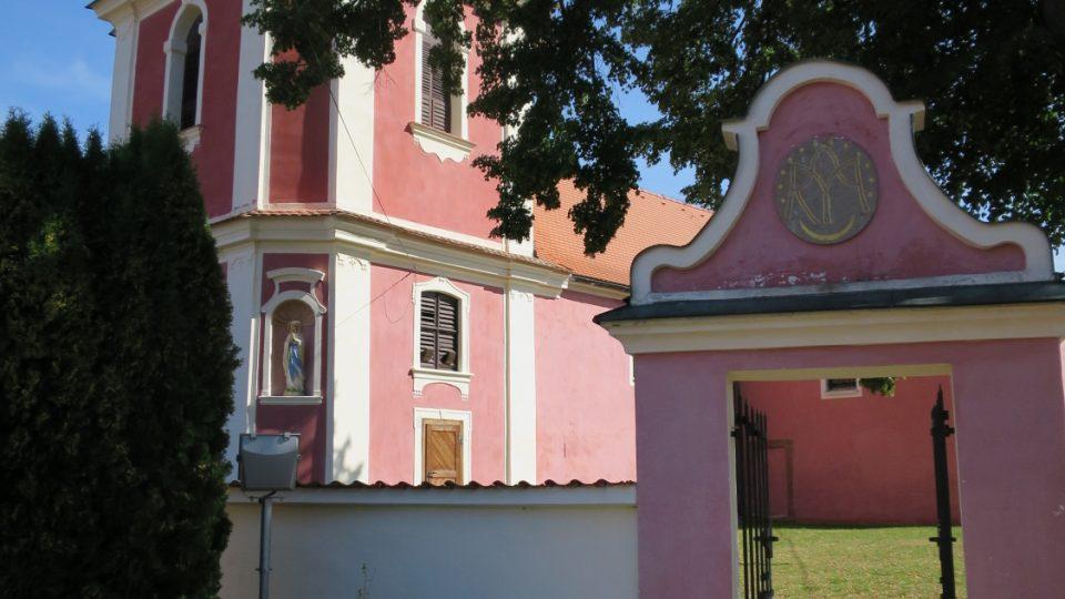 Areál kostela na Hrádku
