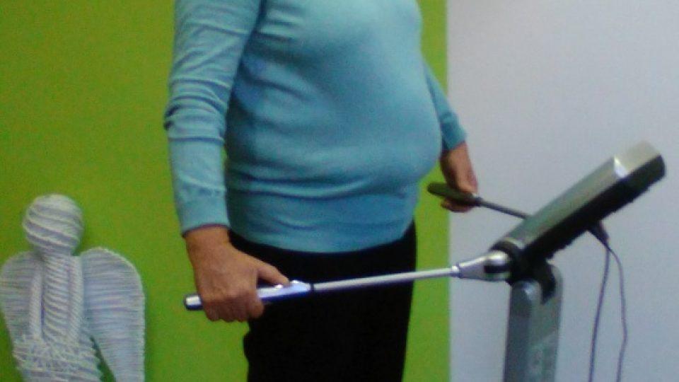 Paní Jana v září 2015. Projekt Nastartuj zdravý životní styl s Dámskou jízdou začal