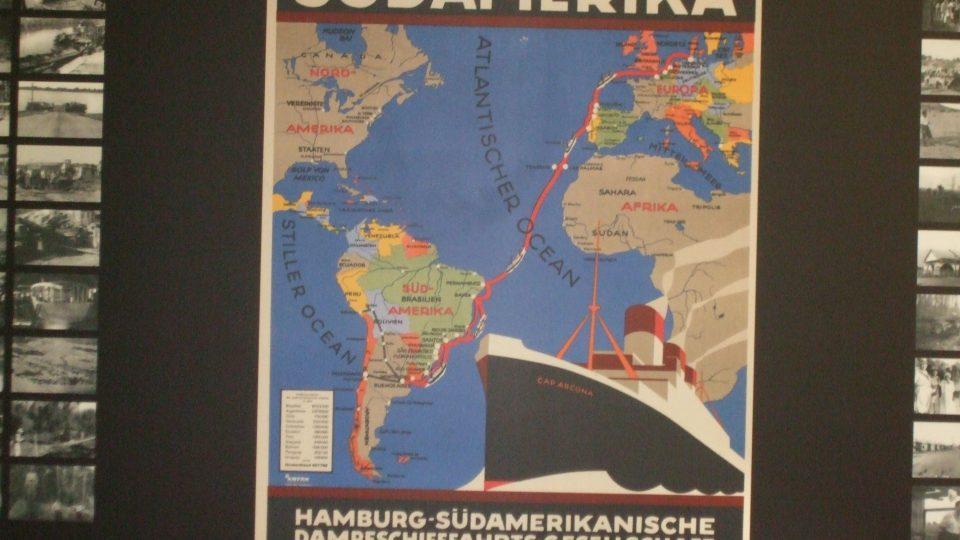 Muzeum vytěhovalectví do Brazílie, reklama lodi
