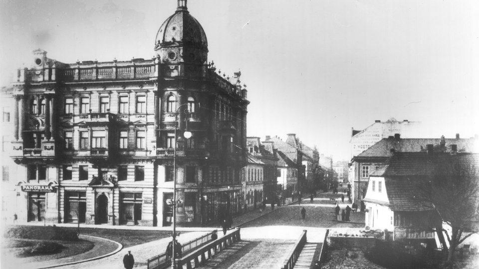 Palác Hybských v Pardubicích na počátku 20. století