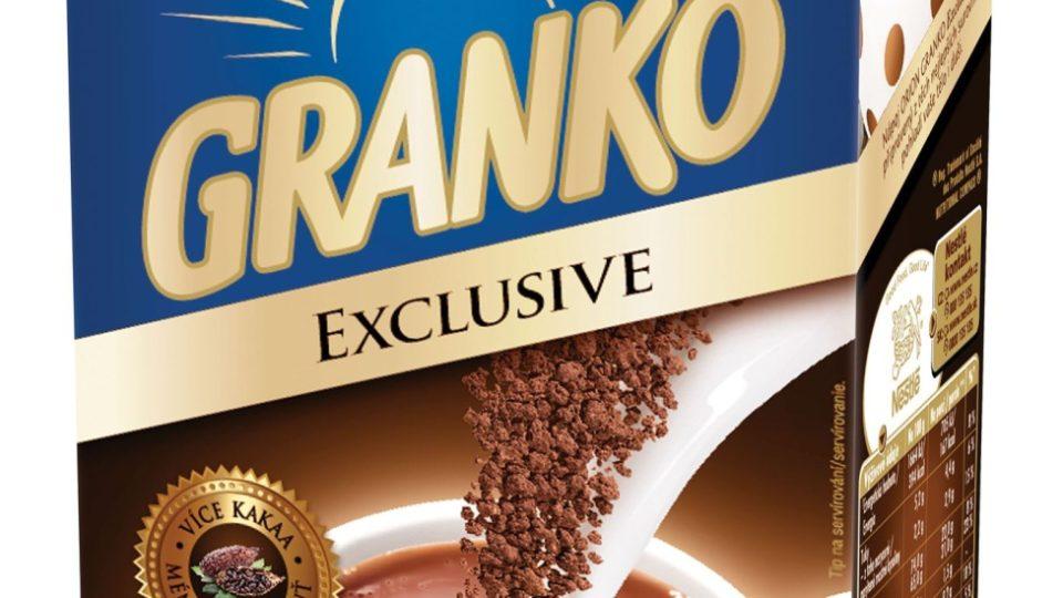 Granko Exclusive patří k moderním druhům, obsahuje více kakaa