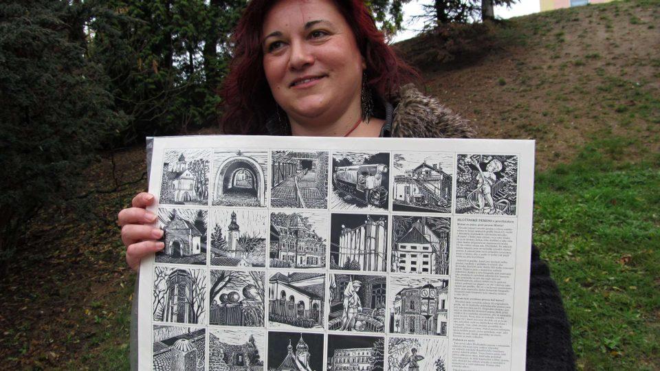 Hlučínské pexeso s procházkou a jeho autorka Marie Hranáčová