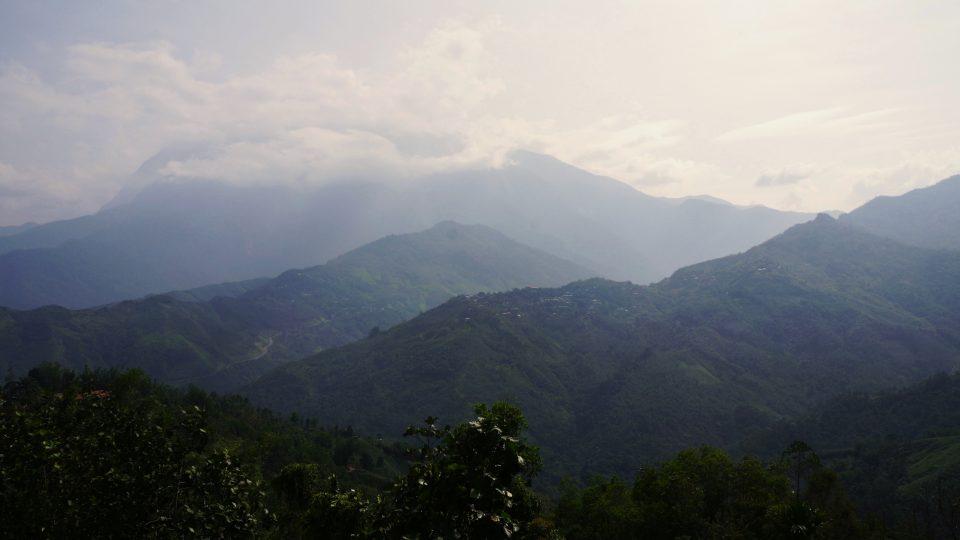 Mount Kinabalu v malajsijském národním parku