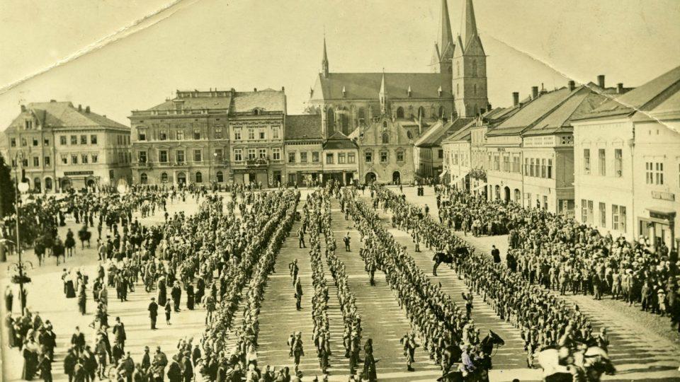 Odvod vojáků v roce 1914