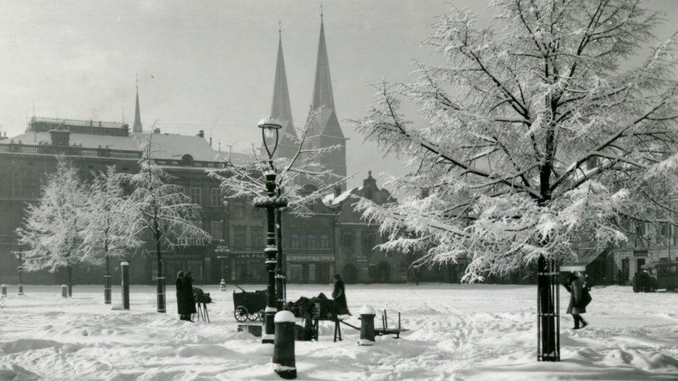 Historická fotografie vysokomýtského náměstí