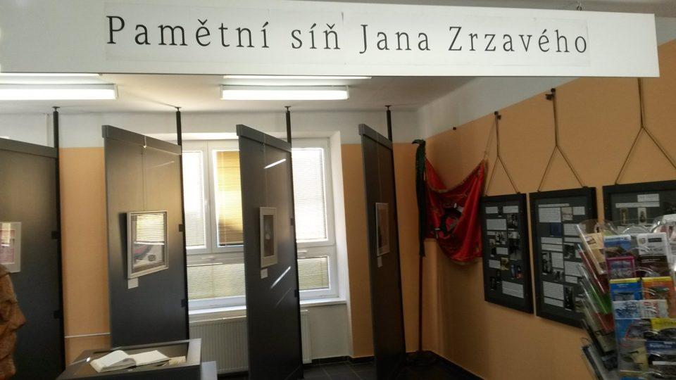 Pamětní síň Jana Zrzavého v budově úřadu městyse