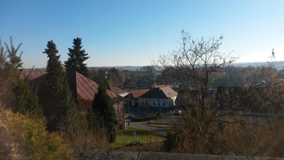 Pohled na Krucemburk od kostela