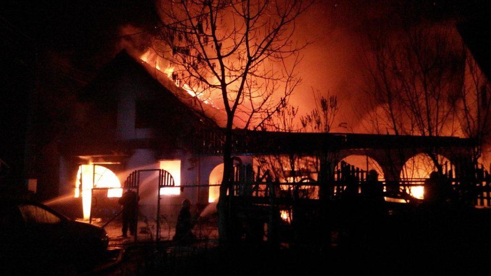 Požár Bělečko 10.12.2013
