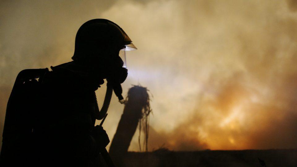 Požár domu v Lukovně 31. 8. 2009
