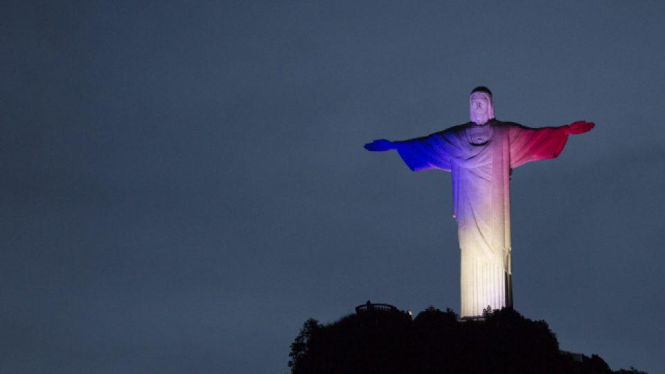 Socha Krista Spasitele v brazilském Rio de Janeiru
