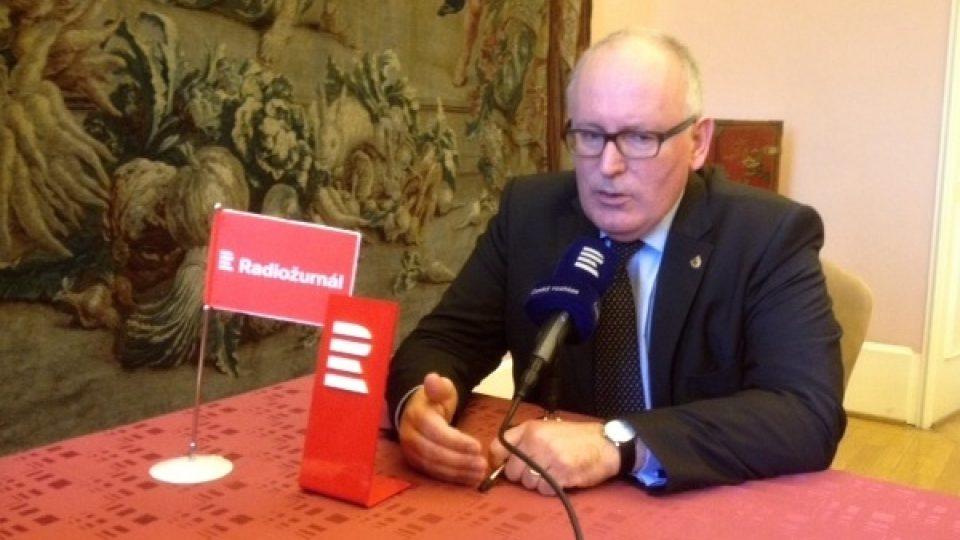 Frans Timmermans, místopředseda Evropské komise, byl hostem Dvaceti minut Radiožurnálu