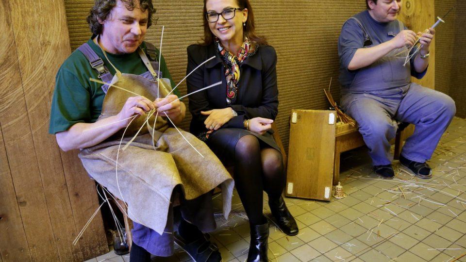 Dana Morávková se seznámila s nevidomými košíkáři