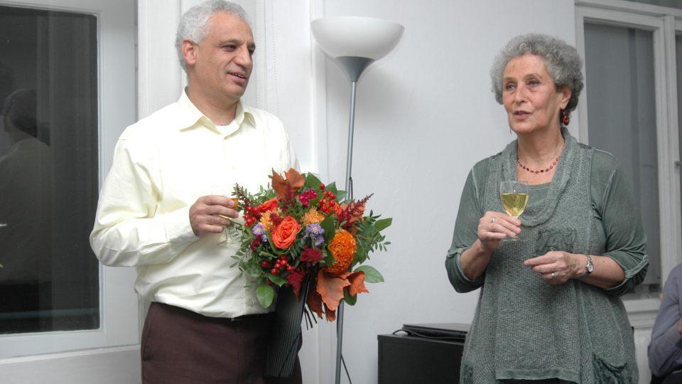 Marwan Alsolaiman a Věra Roubalová při předávání Ceny Prix Irene