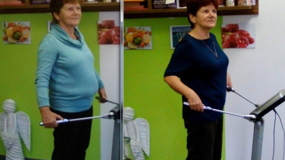 Jana v září a v listopadu 2015. Změna životního stylu se na těle jednoznačně projevila