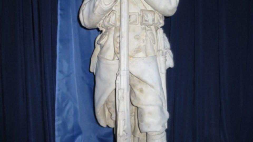 Sádrový model sochy je k vidění v Muzeu Podbezdězí