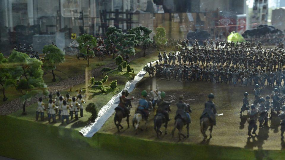 Model bojiště u Chlumu