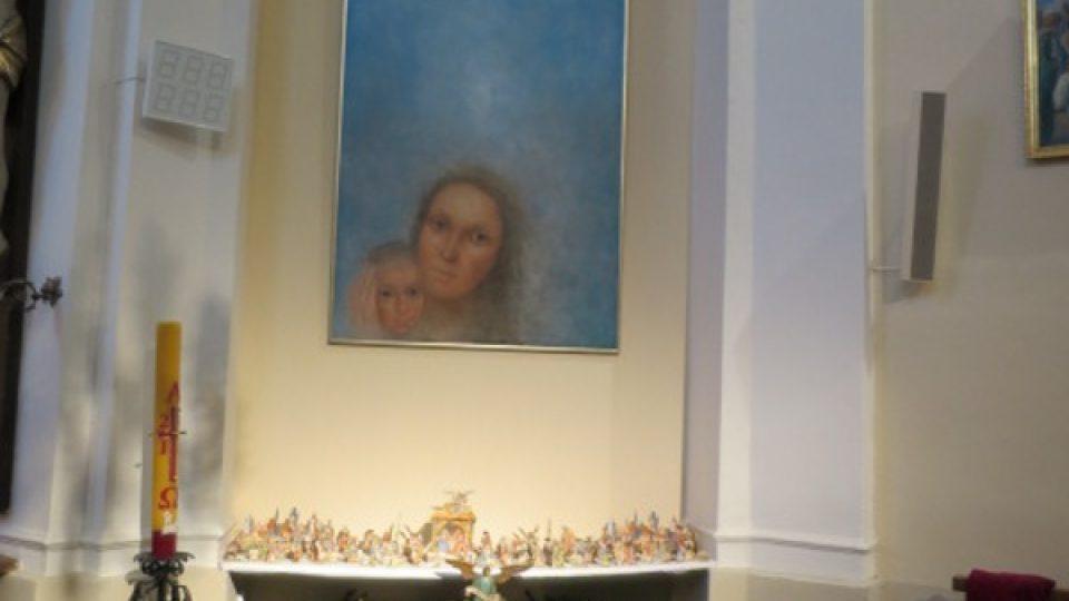 Obraz Madony a dítěte od Jiřího Anderleho