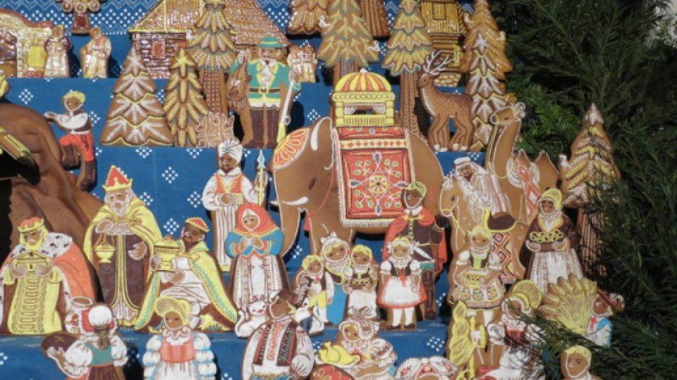 Už přes 40 let se tu každoročně vystavuje betlém upečený z perníku