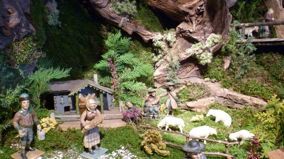 Do betléma je potřeba spousta kořenů, mechu a rostlin