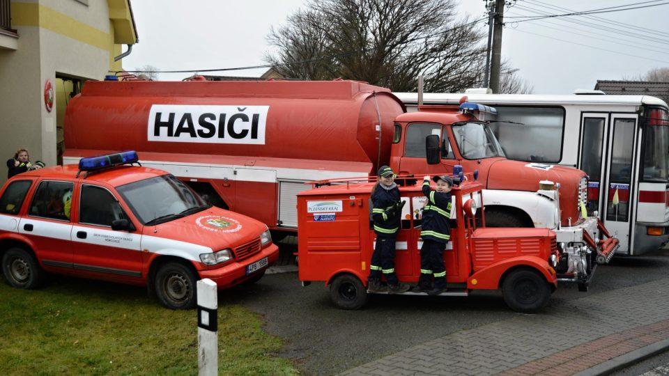 Vozový park Sboru dobrovolných hasičů v Němčovicích