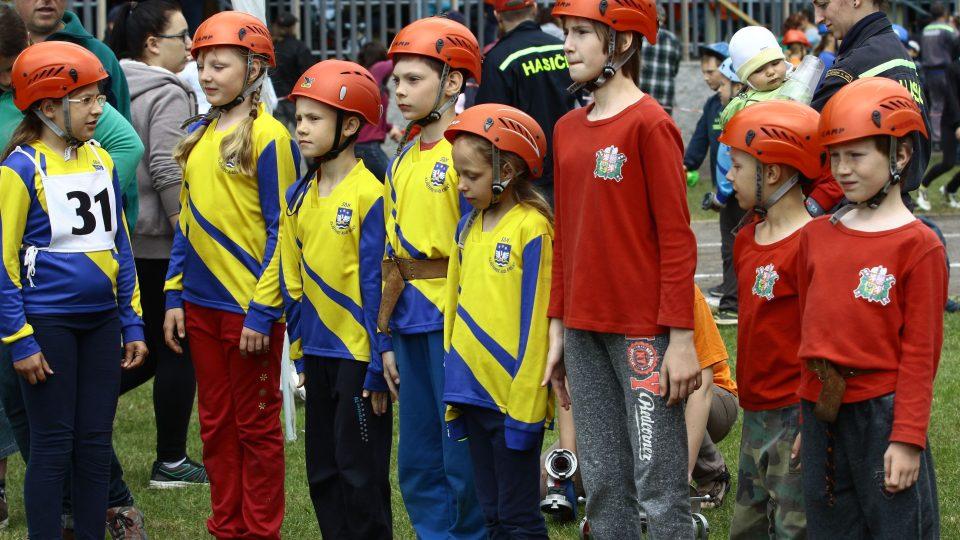 Malí hasiči z Klášterce v okresním kole Hry Plamen
