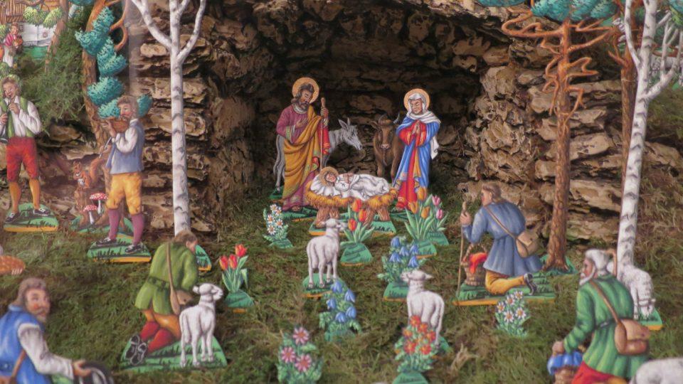 Vánoční betlém Josefa Procházky ze druhé poloviny 20.století
