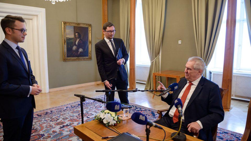 Prezident České republiky Miloš Zeman v Interview Plus