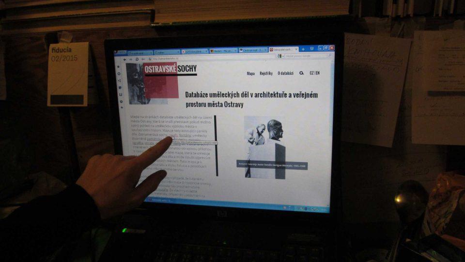 Internetová databáze Ostravských soch