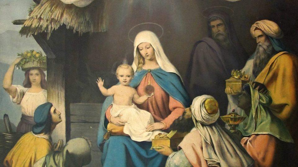 W. Loeiloth. Vzývání Pána Krista. Vydal W. Moeser in Berlin. Barevná litografie, konec 19. století