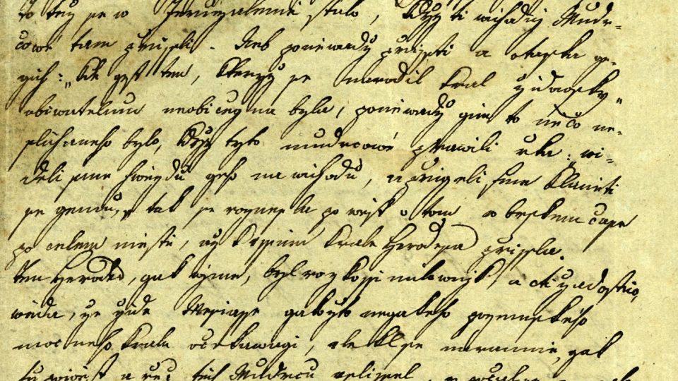 Úvodní strana kázání na den sv. Tří králů z počátku 19. století, věnované mj. pokleskům současného života
