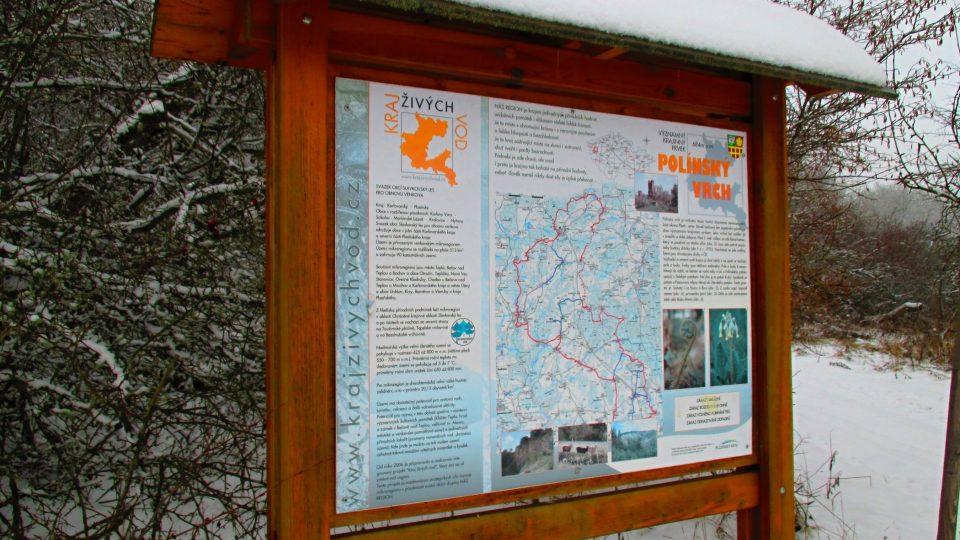 Infotabule pod Polínským vrchem