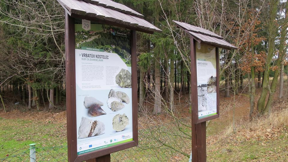 Informační tabule Geoparku Železné hory