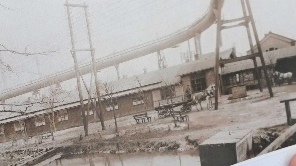 Závodní strouha v roce 1912
